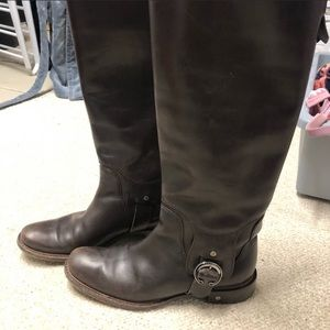 🎁🎉Celine brown leather luxury 👢 boots size 7